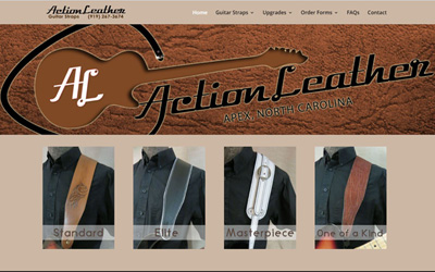 New Website : Action Leather Guitar Straps