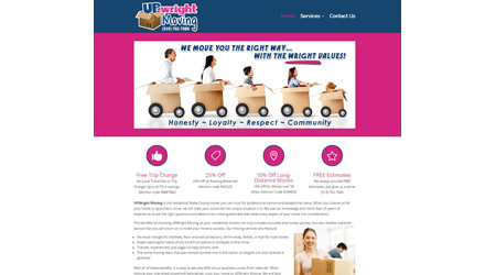 New Website: Upwright Moving