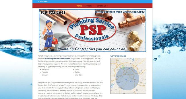 New Website : Plumbing Service Pro